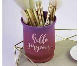 Sculpey Premo™ Mauve & Sunset Pearl Makeup Brush Jar