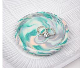 Sculpey III® Turquoise Glitter Trinket Tray