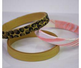 Sculpey III® Glittering Bangle Bracelets