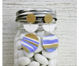 Sculpey III® Glitter Marbled Earrings
