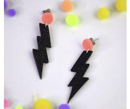 Sculpey III® Glittering Lightning Bolt Earrings