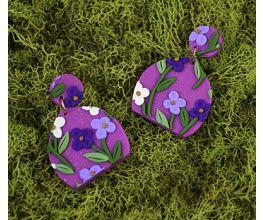 Sculpey III® Flower Slab Earrings