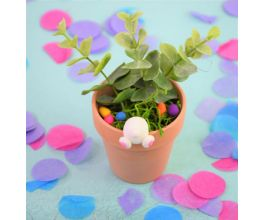 Decorative Easter Bunny Flower Pot