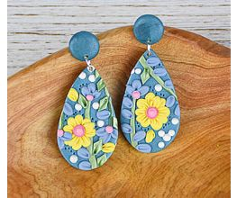 Sculpey Premo™ and Sculpey Soufflé™ Floral Slab Earrings