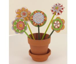 Sculpey Air-Dry™ Clay flowers in flower pot