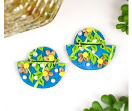 Sculpey Soufflé™ and Premo™ Floral Slab Earrings