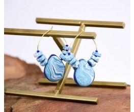 Sculpey Souffle™ and Liquid Sculpey® Heishi-Bon Earrings