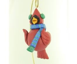Sculpey Premo™ Winter Cardinal Gourd and Clay Ornament