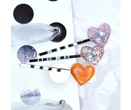 Liquid Sculpey® Confetti Clear Sparkling Hair Pins
