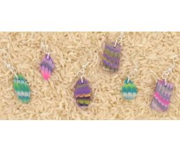 Sculpey Premo™ Bargello Patterned Earrings