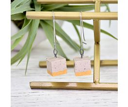 Liquid Sculpey® Cubes of Granite Earrings
