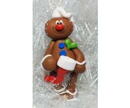 Premo Christmas Gingerbread Man with Stocking