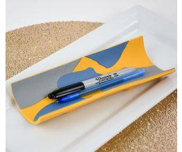 Sculpey Soufflé™ Ochre Sleek Pencil Tray