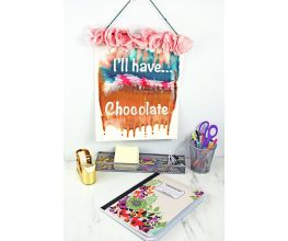 "Liquid Sculpey® ""I'll Have Chocolate"" Tilt Painting Banner"