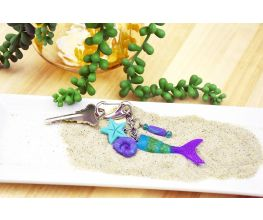 Liquid Sculpey® and Sculpey III® Mermaid Tail Keychain