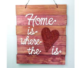 "Sculpey® Souffle  ""Home is Where the Heart Is"" Wall Plaque"