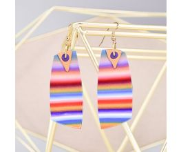 Sculpey Premo™ Summertime Vacation Soft Striped Earrings