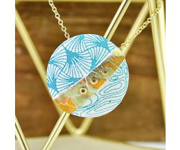 Sculpey® Soufflé Silkscreened Pieced Pendant