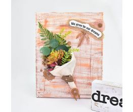 Liquid Sculpey® and Soufflé™ Boho Canvas Collage