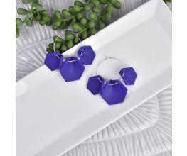 Sculpey® Soufflé Triple Hex Earrings