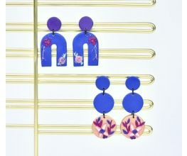 Sculpey Soufflé™ Midnight Blue Dangle Earrings