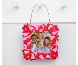 Sculpey Air-Dry™  Pink and Red Heart Frame