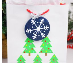 Sculpey PremoTM and Liquid Sculpey® Snowflake Gift Tag Ornament
