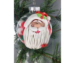 premo Sculpey Santa Glass Ornament
