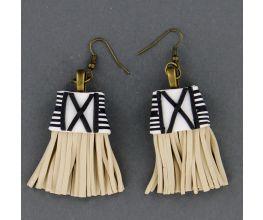 Souffle Faux Tassle Earrings