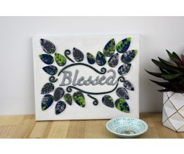 "Sculpey Premo™ Clay and Liquid Sculpey® Team Up to Create a ""Blessed"" Canvas Wall Hanging"
