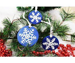 Premo Sculpey™ and Liquid Sculpey® Snowflake Ornaments