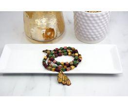 Sculpey Premo™ Boho  Silkscreened Butterfly Wrap Bracelet