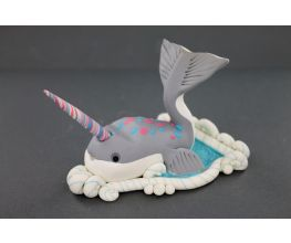 Sculpey Souffle™ Narwhal Cell Phone Holder with Horizontal and Vertical Options