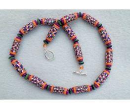 premo! Fork Cane Tube Bead Necklace