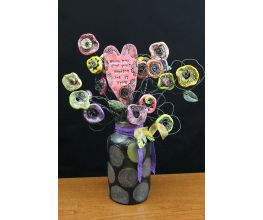 Premo Distressed Mod Flower Bouquet