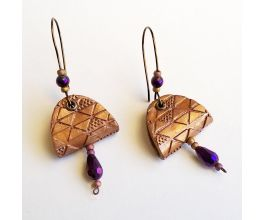Sculpey Premo™ Metallic Textured and Folded Earrings