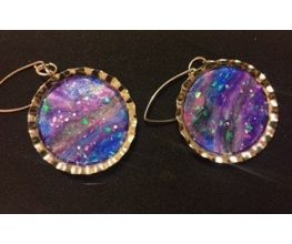 Premo Sculpey Accents Opal Galaxy & Beyond Ear Rings
