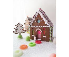 Premo Sweet Illuminated Gingerbread House Scene
