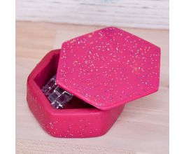 Sculpey Premo™ Fuchsia and Liquid Sculpey® Confetti Clear Trinket Box