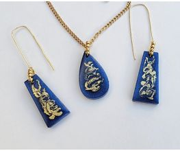 Liquid Sculpey® Golden Swirl Jewelry Set