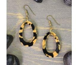 Liquid Sculpey® Hoops of Amber Earrings
