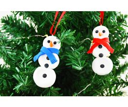 Sculpey Bake Shop® Clay Snowman Ornaments