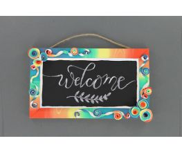Sculpey III® Rainbow Chalkboard Sign