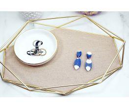 Liquid Sculpey® Primary Color Splatter Earrings