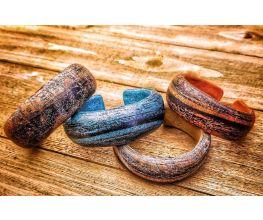 Souffle Faux Wood Transfer Bracelet