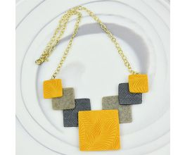 Sculpey Premo™ Geometric Statement Necklace