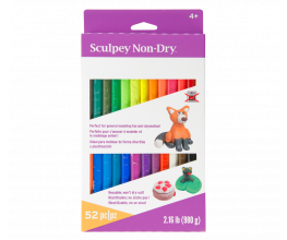 Sculpey Non-Dry™ Modeling Clay Variety Set 52 pc