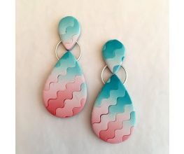 Sculpey III® Ombré Waves Color Blended Earrings