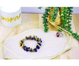 Sculpey Premo™ Navy Simply Elegant Folded Bracelet