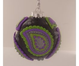 Sculpey Premo™ Purple Paisley Ornament Ball